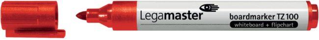 Afbeelding van Rode Bruna Viltstift Legamaster TZ100 whiteboard rond rood 1.5-3mm