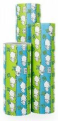 Blauwe Original Giftwrap Cadeaupapier Schaapjes Tellen - Rol 70cm - 200m - 70gr | Winkelrol / Apparaatrol / Toonbankrol / Geschenkpapier / Kadopapier / Inpakpapier