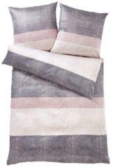 Mako Satin Bettwäsche 'Sparkling Stripes' JOOP! rose