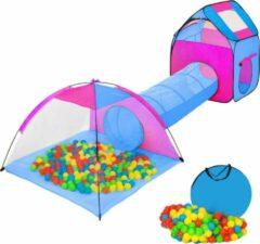 Blauwe TecTake Iglo kindertent met ballenbak inclusief 200 ballen - Speeltent