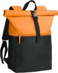 Beige Derby of Sweden Derby Sky Backpack - Roltop Rugzak - Oranje - 16 Liter