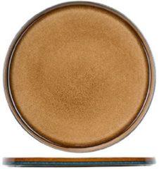 Cosy&Trendy Quintana Amber Plat Bord D32,5cm (set van 2) En Yourkitchen E-kookboek - Heerlijke Smulrecepten