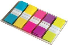 Post-it 6835-5CB Indexen Kleurenassortiment Neon Blanco 11,9 x 43,2 mm 1,19 x 4,32 cm 70 g/m² 5 Stuks à 20 Strips
