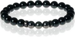 Zwarte Kralen armband Memphis Agaat Black Beads