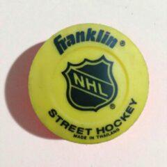 Franklin NHL Straathockey puck High Density 75 Mm Vinyl - geel