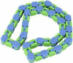 Merkloos / Sans marque Wacky tracks   fidget toys   ketting   los kopen   groen - blauw