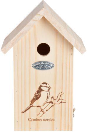 Afbeelding van Esschert design Best For Birds Pimpelmees Vogelhuisje - Ø27 mm