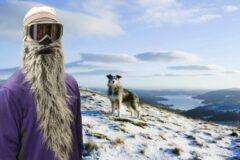 Grijze Beardski Unisex Facemask Maat One size