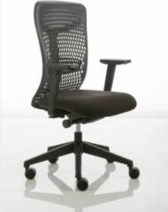 Blauwe JOB ergoBack bureaustoel - black edition