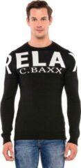 Zwarte Cipo & Baxx Heren Trui Maat XL