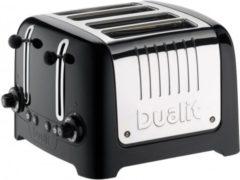 Zwarte Dualit DU46225 4 Lite Peek&Pop / Bagel&Defrost Gloss Black
