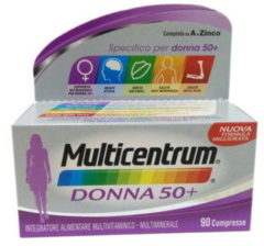 Multicentrum Donna 50+ Integratore Multivitaminico Multiminerale 90 Compresse