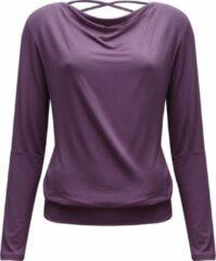 "Paarse Yoga-longsleeve vloeiende shakti ""ala"" - vlierbes M Loungewear shirt YOGISTAR"