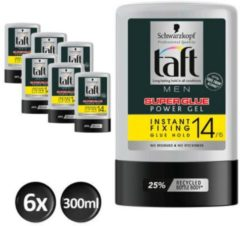 Schwarzkopf Taft Super Glue Gel Tottle 300 ml - 6 stuks - Voordeelverpakking