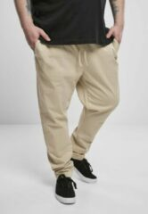 Creme witte Urban Classics Heren jogging broek -M- Tapered Cotton Creme