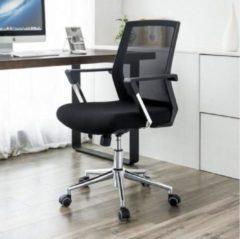 Merkloos / Sans marque MIRA Home - Bureaustoel verstelbaar - Met wieltjes - Bureaustoel voor volwassenen - Draaibaar - Zwart - 30x57,5x60