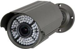 """Grijze Velleman 1/3"""" Cilindrische Camera - Gebruik Buitenshuis - 700 Tv-Lijnen - Sony Effio - 72 Ir-Leds"""