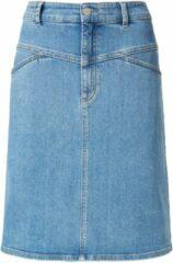 Blauwe Jeansrok in licht A-lijnmodel deelnaden Van DAY.LIKE denim