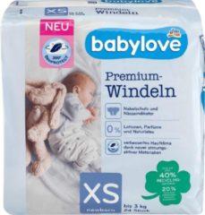 Babylove Premium luiers - maat 1 (XS) - tot 3 kg (24 stuks)