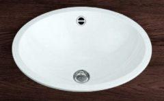 Alape EB inbouwwastafel, wit, diepte 425mm breedte/diameter 525mm ovaal