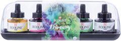 Talens Ecoline waterverf flacon van 30 ml, set van 5 flacons in primaire kleuren