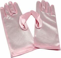 Stockings ad More Roze Satijnen Handschoenen - Ana-Pink