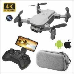 Zwarte Mini Drone 4K HD Camera - XKJ -Foto-Video-WiFi- 3 accu's -Inklapbaar en met gratis opbergtas