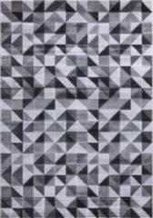 Impression Carpets Mykonos Basic Vloerkleed Grijs / Wit Laagpolig - 80x150 CM