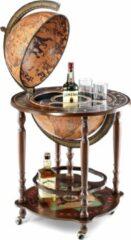 Bruine Zoffoli BarGlobe   Drankbar wereldbol  Minosse bar globe 40 classic