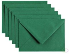 Donkergroene Papicolor Envelop C6 dennengroen 105gr-CV 6 st 302950 - 114x162 mm