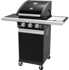 Zwarte Patton Patio Chef 2+ Burner Gasbarbecue met zijbrander - Nova Black