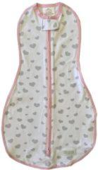 Roze Woombie Original Swaddle inbakerdoek Hartjes 0-3 maanden