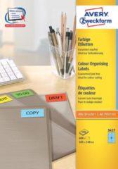 Avery-Zweckform 3457 Etiketten 105 x 48 mm Papier Blauw 400 stuks Permanent Universele etiketten 100 vel DIN A4