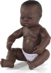Miniland Babypop Jongetje Met Vanillegeur 40 Cm Haar Donkerbruin