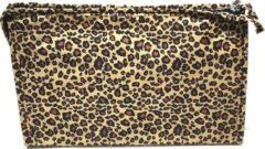Beige Rojafit Budget Toilettas - Groot- Panter - afmeting 30 x 7 x 19 cm.