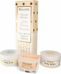 Nacomi - Pomarańczowy Sorbet masło do ciała 125g + odświeżający peeling do twarzy i ust 85g + peeling do ciała
