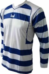 KWD Shirt Desperado lange mouw - Blauw/wit - Maat 128/140 - Pupil