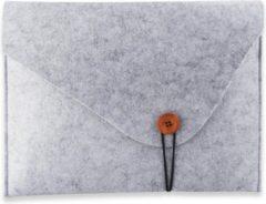 Zwarte LAPPY - Laptophoes - Laptopsleeve vilt - Laptoptas - Duurzaam - Bestseller - 16/17,3 inch - Grijs