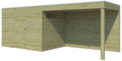 Blokhut met luifel | BS | 600 x 300 cm | Gardenas