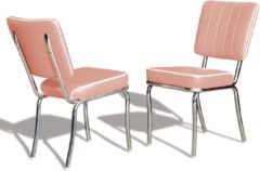 Roze Bel Air Retro Fifties Furniture Bel Air Retro Eetkamerstoel CO-25 Dusty Rose