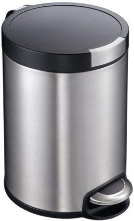 Afbeelding van Roestvrijstalen Pedaalemmer - Artistic Step - Voetpedaal - 5l Liter - mat RVS - EKO
