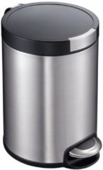 Roestvrijstalen Pedaalemmer - Artistic Step - Voetpedaal - 5l Liter - mat RVS - EKO