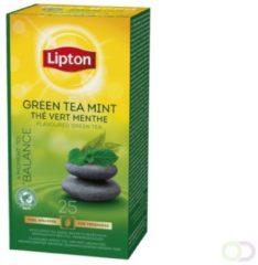 Groene Thee Lipton groen tea mint met envelop 25stuks