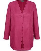 Roze Lange blazer m. collection Fuchsia