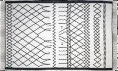 HSM Collection Vloerkleed - katoen - 120x70 cm - wit/zwart