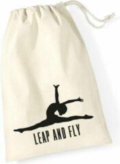 Gebroken-witte Sparkle&Dream Leertjes/Lusjes Tasje 'Leap and Fly', voor turnen en gymnastiek