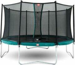 Groene BERG trampoline Favorit 380 + Safety Net Comfort