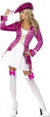 Generik Roze piraat kostuum | Piraten verkleedkleding dames maat XS (32-34)