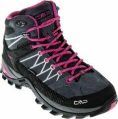 Paarse CMP Campagnolo Campagnolo Rigel Mid Outdoorschoenen Dames Wandelschoenen - Maat 40 - Vrouwen - grijs/roze/zwart