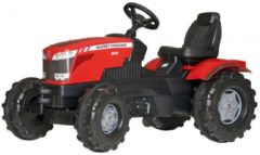 Rode Rolly Toys traptractor RollyFarmtrac MF8650 rood/zwart